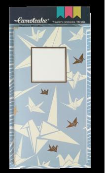 OrigamiSet 2 Cuadernos Cosidos Liso y Punteado 60 páginas 110x210mm