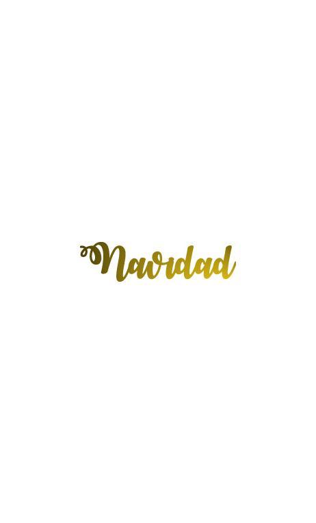 """Palabra """"Navidad"""" en metacrilato adhesivo Color Dorado 2x8 cm"""