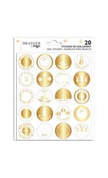20 Stickers para paquetes de regalo de Nochevieja