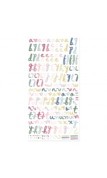 Alfabeto puffy-Colección Pétalos