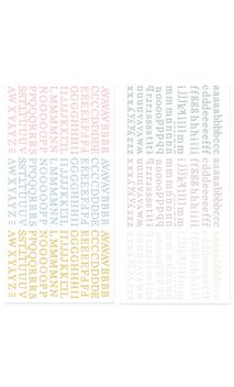 Mini alfabeto puffy-Colección Pétalos