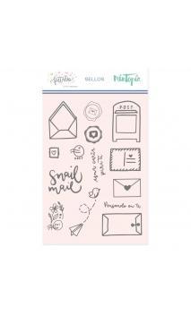 Sello Snail Mail-Colección Pétalos