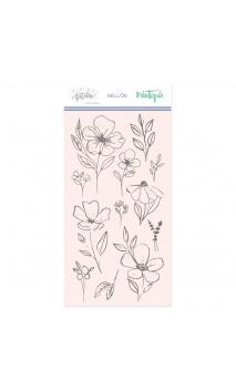 Sello Flores grandes-Colección Pétalos