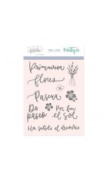 Sello Primavera-Colección Pétalos