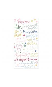 Pegatinas palabras puffy-Colección Pétalos