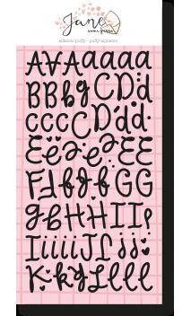 Alfabeto puffy negro JANE