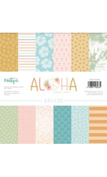 """Kit 12""""x12"""" Papeles básicos Aloha"""