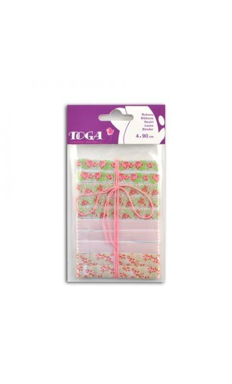 Conjunto de 4 cintas Señorita rosa