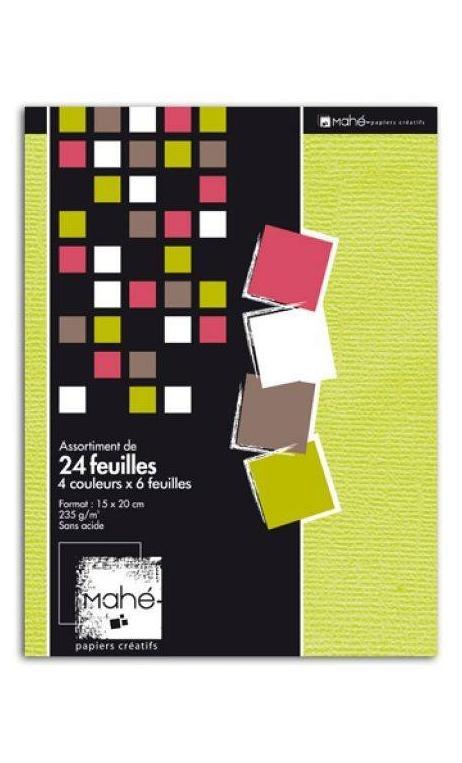 P'tit bloc Mahe 4 colores de Noel 15x20 24f