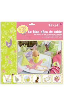 Bloc para plegar Decoración de mesa  Un conejo en un gallinero