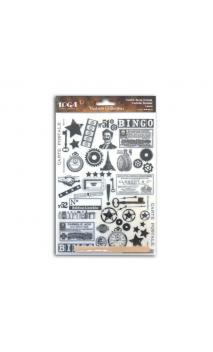 Rub-ons negro  Vintage  - 1 pl. 15x21