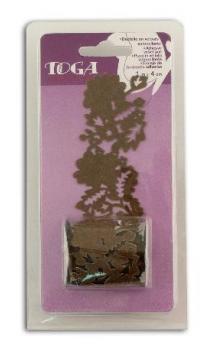 Puntilla terciopelo Autoadhesiva Chocolate
