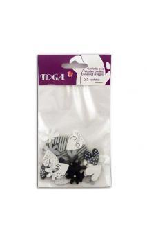 Surtido Confettis negro/Blanco