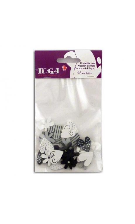 Confettis negro/blanco