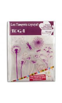 Surtido sellos Crystal 11x11 Gramineas