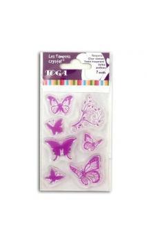 Surtido sellos Crystal 6x9 Mariposas