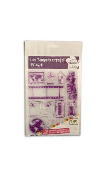 Surtido sellos Crystal 14x18 Destinacion Vacaciones