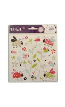 Sticker Fantasia Coccinelles 15x15