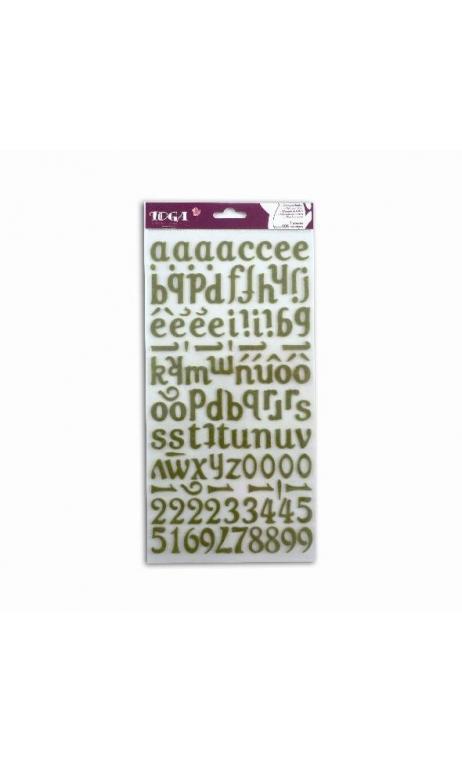 stickers Alfabeto Feutrine verde mousse