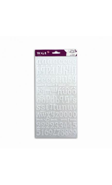 stickers Alfabeto Feutrine blanco