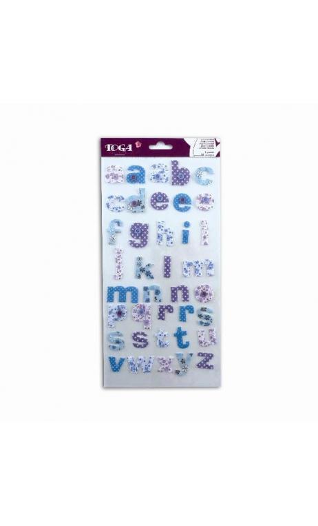 stickers Alfabeto tela Mauve/azul