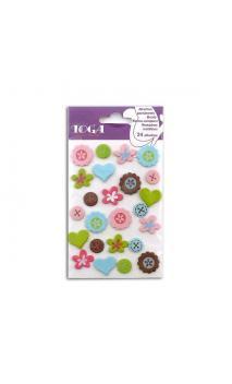 encuadernadores Flores/Botones