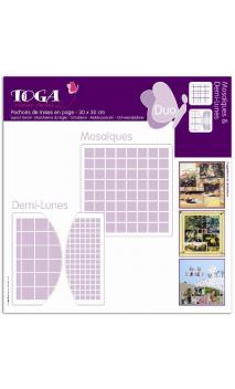 Mosaiques/Demi-Lunes (2 Plantillas)