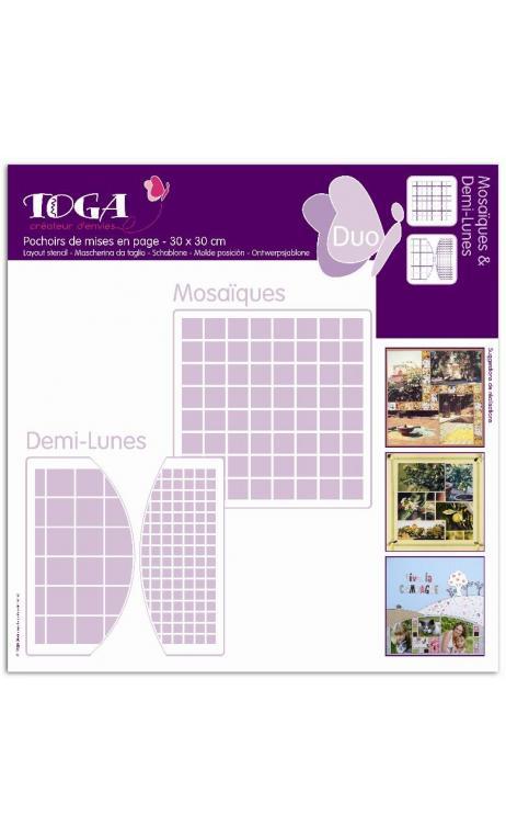 Mosaiques/Demi-Lunas (2 Plantillas)
