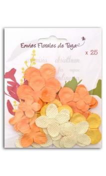 Surtido de 25 flores amarillo-naranja