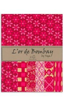L'OR DE BOMBAY - FUCHSIA ROJO ET  OR