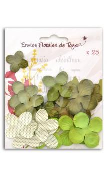 Surtido de 25 flores verde