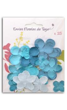 Surtido de 25 flores azul