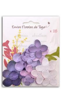 Surtido de 25 flores violeta