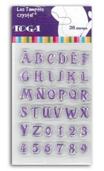Sellos acrílicos crystal® 6x9  alfabeto