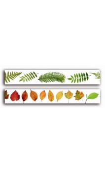 2 Adhesivos decorativos transparente 2cmx18m - hojas y helechos