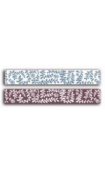 2 Adhesivos decorativos transparente 2cmx18m - hojarasca