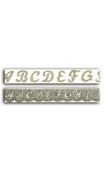2 Adhesivos decorativos transparente 2cmx18m - alfabeto encaje