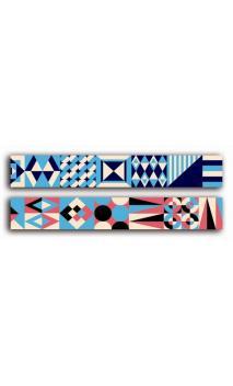 2 Adhesivos decorativos transparente 2cmx18m - arte moderno