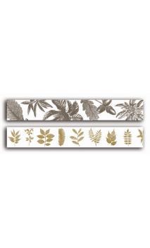 2 Adhesivos decorativos transparente 2cmx18m - botanica