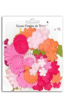 Surtido de 75 flores mix rosa-naranja-rojo