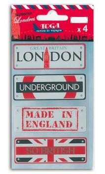 Placas de metal Londres