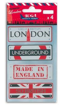 4 Placas de metal Londres
