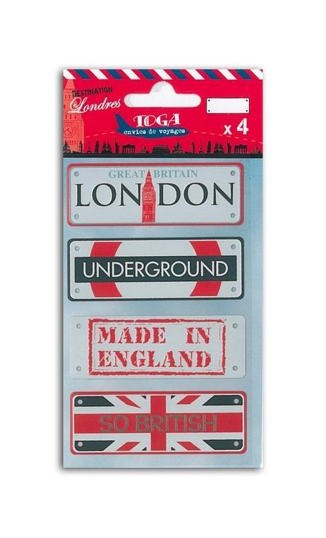 Placas de metal Londres