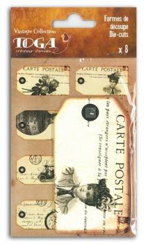 Etiquetas impresas Vintage