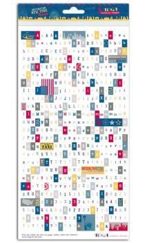 Stickers alfabeto New York
