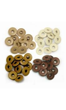 Wide Eyelets - Aluminum Brown