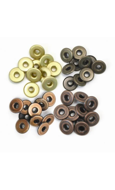 Wide Eyelets - Copper Warm Metal