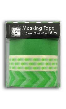 Masking Tape x3  Verde Fluo
