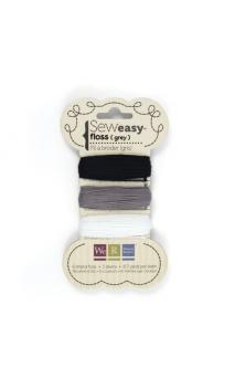 Sew1sy Floss - Black, White & Greys