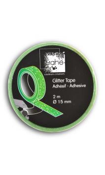 Glitter Tape 2m - Verde Fluo